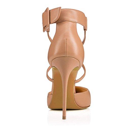 616 Hueco 8CM Moda Zapatos Sandalias Tacón Tacón TLJ Beige Alta De Tirantes Sexy KJJDE De Mujer Baile Fiesta Alto Sexy tPgnYxqwF