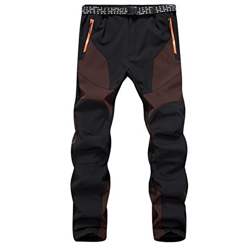 Pocket Button Size Ski JACKETS Coffee Women Large Pants DYF Men Zipper FYM Trousers Color Belt zZwqqP