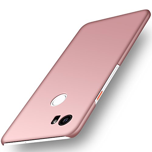 Google Pixel 2 XL Case, Arkour Minimalist Ultra Thin Slim Fit Cover with Smooth Matte Surface Hard Cases for Google Pixel 2 XL (2017) - Smooth Rose Gold