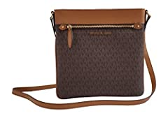 Keep your on-the-go essentials securely organized in hands-free style with this sleek crossbody bag, made from leather-trimmed nylon for enduring wear.
