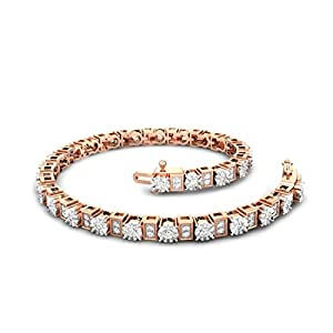 0.84 carat Classsic Diamond Tennis Bracelet for Women Ladies in 14K Rose Gold (I/J Color SI1-SI2 Quality)