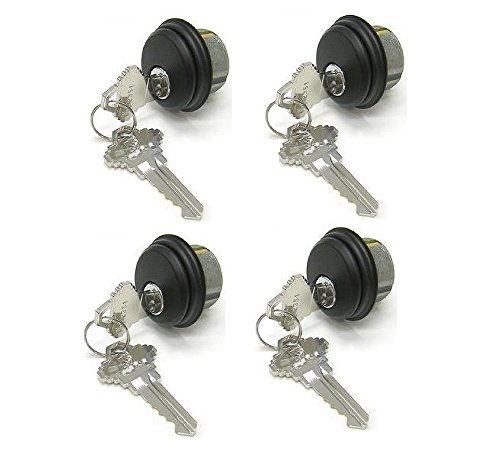 Mortise Lock Cylinders 4-Pack (Same Keys), Adams Rite Cam for Storefront Doors in Duronotic