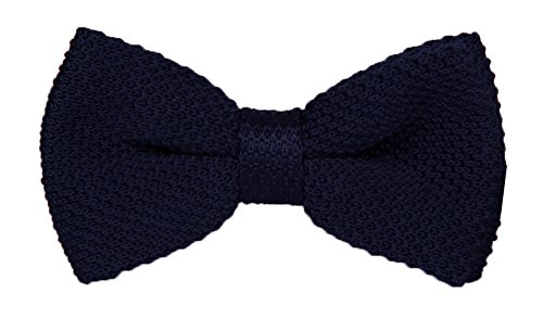 Men Kids Navy Blue Adjustable Knit Bow Ties for Tuxedo Party and Other Occasions