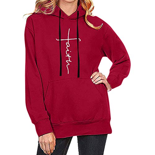 Womens for Hoodies, FORUU Ladies 2018 Winter Sale Christmas Thanksgiving Friday Monday Under 10 Best Gift for Her Printing Long Sleeve Sweatshirt Hooded Pullover Tops Blouse