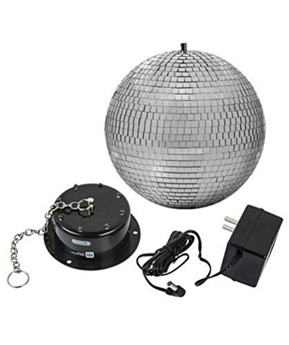 8 Rotating Mirror Ball With Led Lights in US - 4