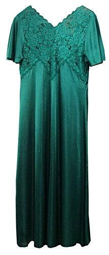 Vert long 94cm 4 nuit plus un en dentelle long de motif satin magnifique 44 de de manches taille avec 42 courtes longueur de ou ou court 119cm peu 3 Chemise f1wxFCU55q