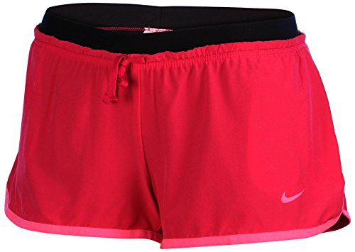Nike Women's Dri-Fit Full Flex 2-In-1 Training Shorts-Fireberry/Black-Small