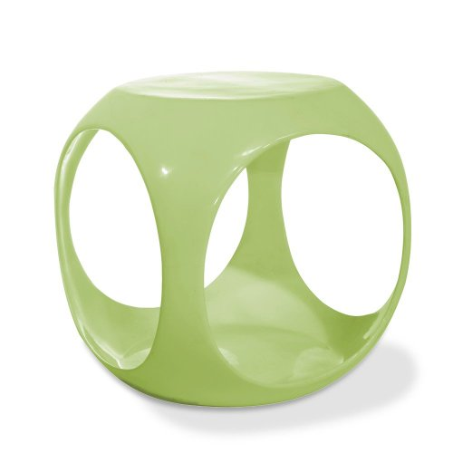 AVE SIX Slick High Gloss Finish Cube Occasional Table, Green