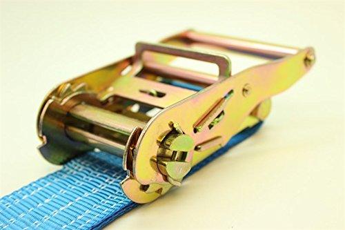 DiversityWrap/ /4/x correa de trinquete amarre 2T 7/m x50/mm hierro mango y doble J gancho 2500/kg Webbing