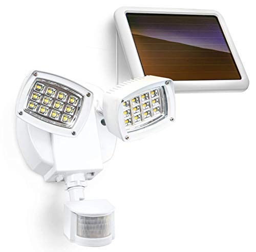Home Zone Security Solar Flood Light - Heavy Duty Metal Body 5700K Motion Sensor Security Light with No Wiring Required