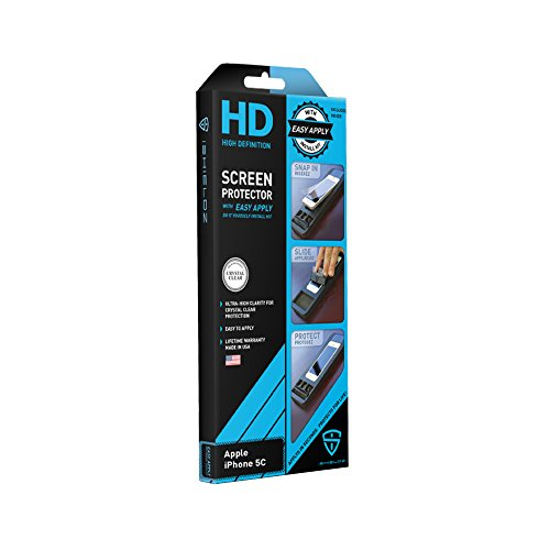 iShieldz HD High Definition Screen Protector with Easy Apply for iPhone 5C - Retail Packaging - Clear