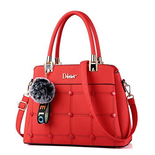 Borsa Grande Exull Spalla Bag 92315 Red Borse Ufficio Capacità Tote Viaggio Sacchetto Mano A Per Lavoro Pelle Shopper Donna b Pu Shopping t07w6dEqx0