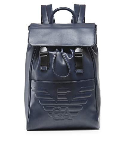 Blu Maxi Backpack Logo Blu Armani Debossed Men's q0z1A1