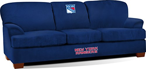 Imperial Officially Licensed NHL Furniture: First Team Microfiber Sofa/Couch, New York Rangers