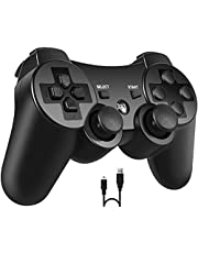 PS3 Controller, PomisGam Wireless Gamepad for Playstation 3 Bluetooth Double Shock Joystick with SIX AXIS ,Charge Cord