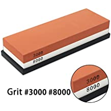 DigHealth Whetstone Japanese Knife Sharpening Wet Stone, 2 Side 3000 /8000 Grit Combination Waterstone Block Kit, CoarseandFineHoning, Chef and Kitchen Tools Set for Blade Clipper Razor Scissor