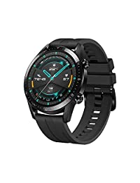 HUAWEI Watch GT 2(46mm) Reloj Inteligente, 2 Weeks Battery Life, GPS, 15 Sport Modes, 3D Glass Screen, Bluetooth Calling Smartwatch - Negro