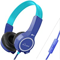 MEE audio KidJamz KJ25P Safe Listening Headphones for Kids with Volume-Limiting Technology and Built-In Microphone and Remote