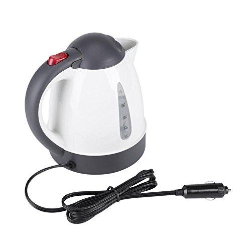 Atyhao - Hervidor de agua portatil para coche, 1000 ml, 12 V, portatil, calentador de agua, botella para te, cafe o viaje (12 V)