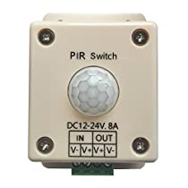 Mr.Geeker DC 12V to 24V 8A Automatic ON OFF Light Controller LED PIR Motion Sensor Switch