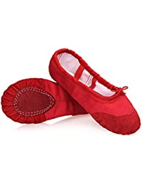 Ballet Shoes for Girls Ballet Slippers for Girls with Canvas Material and Padded Sole Pink,