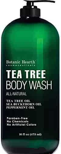 Antifungal Tea Tree Body Wash - Helps Nail Fungus, Athletes Foot, Ringworms, Jock Itch, Acne, Eczema & Body Odor, Soothes Itching & Promotes Healthy Feet, Skin and Nails, Naturally Scented, 16 fl. oz.