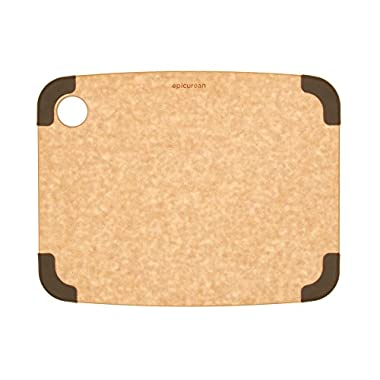 Epicurean Non-Slip Series Cutting Board, 11.5-Inch by 9-Inch, Natural/Brown