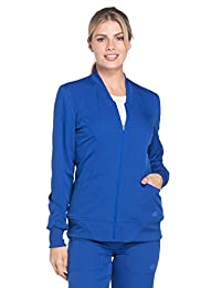 Dickies Dynamix DK330 Women's Zip Front Warm-up Solid Scrub Jacket