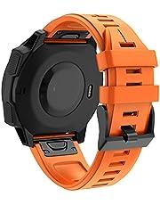 BAAIFC 26 22 MM Siliconen Quick Release Horlogeband Strap voor Garmin Fenix 6X 6 S Pro smartwatch Easyfit Polsband Strap Fenix 5X 5 S