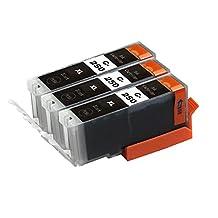 Toner Clinic ® TC-PGI-250XL 3PK 3 PGI-250BK Black Compatible Inkjet Cartridge for Canon PIXMA iP7220 PIXMA iP8720 PIXMA iX6820 PIXMA MG5420 PIXMA MG5422 PIXMA MG5520 PIXMA MG5522 PIXMA MG5620 PIXMA MG6320 PIXMA MG6420 PIXMA MG6620 PIXMA MG7120 PIXMA MG7520 PIXMA MX720 Series PIXMA MX722 PIXMA MX922 - 3 Pack Inkjet Cartridges