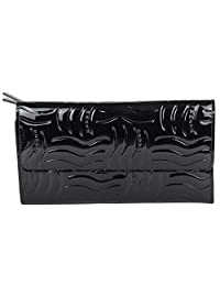 Cross® Women's Genuine Leather Bifold Flap Zip Wallet-Black