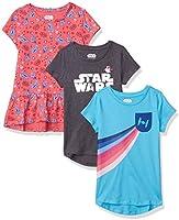 Amazon Brand - Spotted Zebra Girls Disney Star Wars Marvel Frozen Princess Short-Sleeve Tunic T-Shirts