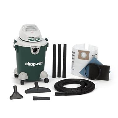Shop-Vac 5980700 6-Gallon 2.75 Peak HP Quiet Plus Series Wet Dry Vacuum