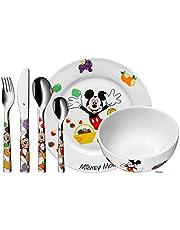 WMF Disney Musse Pigg barnsele med barnbestick, 6 delar, från 3 år, Cromargan polerat rostfritt stål