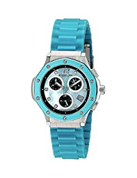 Stuhrling Original Women's 180R.1116II93 Lifestyles Collection Crystal Chronograph Date Blue Watch