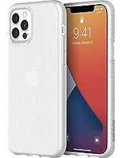 Griffin Survivor Clear Case fodral enligt militärstandard för Apple iPhone 12/12 Pro (6,1 tum) [Tunn design I stötdämpande hörn I Qi-kompatibelt mobilfodral] (transparent) – GIP-051-CLR