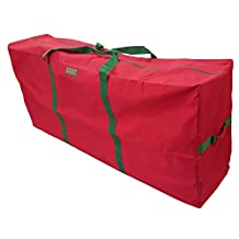 Heavy Duty Christmas Tree Storage Bag Fit upto 9 Foot Artificial Tree Holiday Red Extra Large Dimensions 65 x 30 x 15 by K-Cliffs