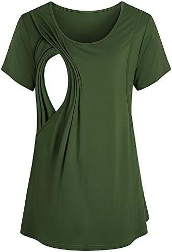 Women Maternity Nursing Breastfeeding Pregnant Shirt Top Blouse 2020