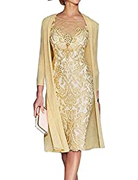 Light Pink Womens Mother Of The Groom Dresses Tea Length With Jacket