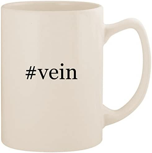 #vein - White Hashtag 14oz Ceramic Statesman Coffee Mug Cup