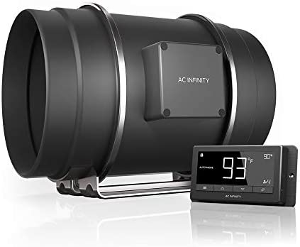 """AC Infinity CLOUDLINE T8, Quiet 8"""" Inline Duct Fan with Temperature Humidity Controller - Ventilation Exhaust Fan for Heating Cooling Booster, Grow Tents, Hydroponics"""