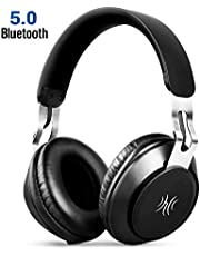 OneAudio Bluetooth Headphones, Wireless Foldable Over Ear Hi-Fi Stereo Headset with Noise Cancelling Microphone, 40mm Driver, Super Comfort Memory Earpad