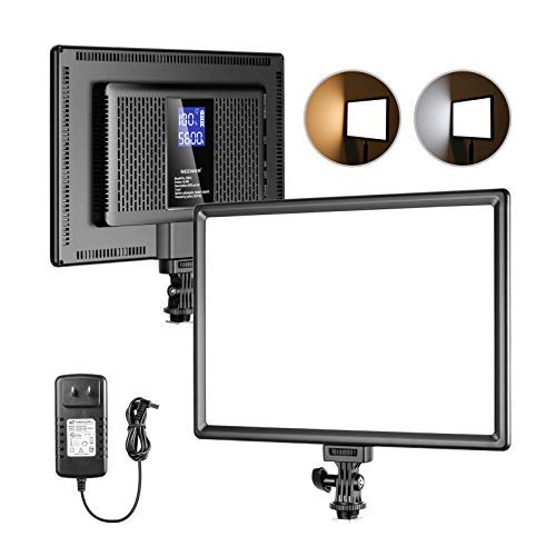 Neewer Ultra-Thin LED Soft Light Panel with LCD Display, Built-in Lithium Batteries, Dimmable Bi-Color 3200-5600K CRI95+ On Camera Video Light for Photography YouTube TikTok Live Stream Zoom Meeting