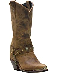 Abilene Womens Distressed Harness Cowgirl Boot Round Toe - 4528