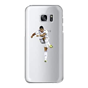 Samsung S7 Phone Case,Real Madrid CF Football-Cristiano Ronaldo Transparent Phone Case For Samsung GALAXY S7