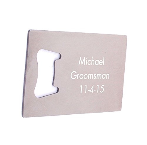 GP Personalized Bottle Opener Credit Card Engraved Handheld Bottle Opener for Wedding Father's Day Gift (Handheld Bottle Opener)