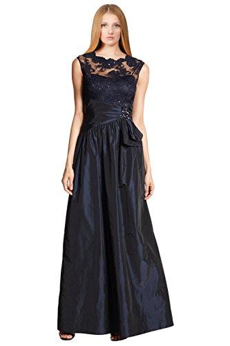 Teri Jon Floral Embellished Sequin Lace Taffeta Evening Gown Dress