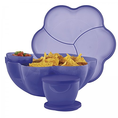 Tupperware Chip N Dip Party Serving Set New Purple