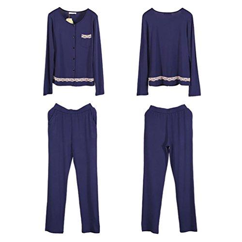 CHUNHUA La nueva manga larga grandes yardas Sra modal pijama chándal | (cuatro colores opcionales) , b , xl (165/88a) b