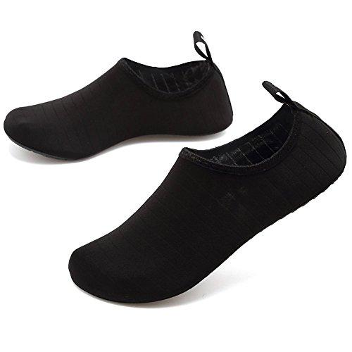 Scarpe Scarpe Pantofole Corsa per Scoglio da Spiaggia da Yoga Suole Donne da Mare Surf Uomini da da Immersione Casa con in e Scarpe da da da Snorkeling Striscia Nera Neopre Scarpe barefoot da Scarpe Spugna ZOq1xxv